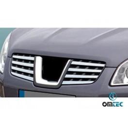 Ornamente inox grila radiator Nissan Qashqai 2007-2010