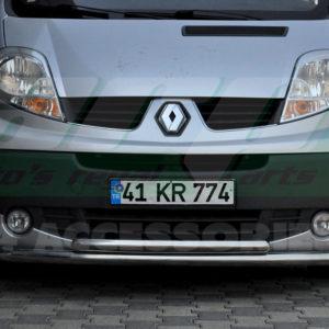 Bara protectie fata inox Renault Trafic 2004+