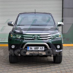 Bullbar protectie pentru bara fata din inox si poliuretan Toyota Hilux 2015+