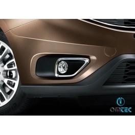 Ornamente inox proiectoare Fiat Doblo 2014+ Facelift