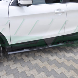Praguri laterale din otel inoxidabil Nissan Qashqai cod OV005 Premium Black