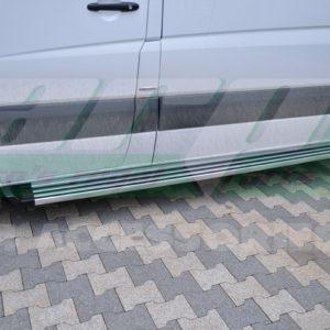 Praguri laterale aluminiu Mercedes Sprinter W906 cod AB008 Ronesans Silver