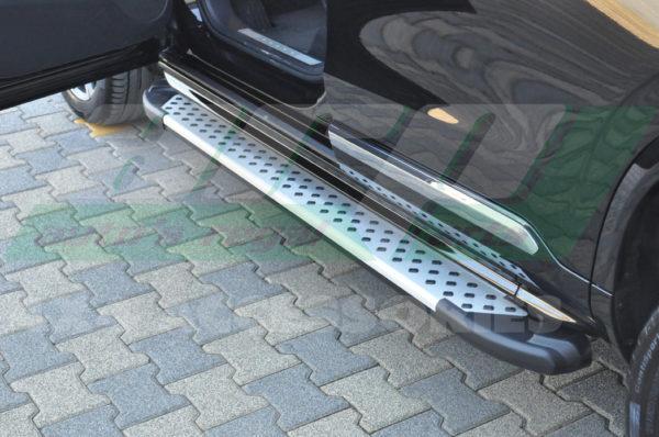Praguri laterale aluminiu Volvo XC90 2016+ cod AB004 Artemis Silver