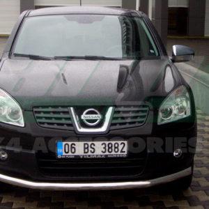 Bara protectie fata inox Nissan Qashqai cod ST008 Tetri