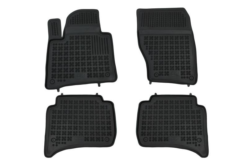 Covorase Presuri Auto Negru din Cauciuc compatibil cu PORSCHE Cayenne 2011+ compatibil cu VW Touareg 2010+