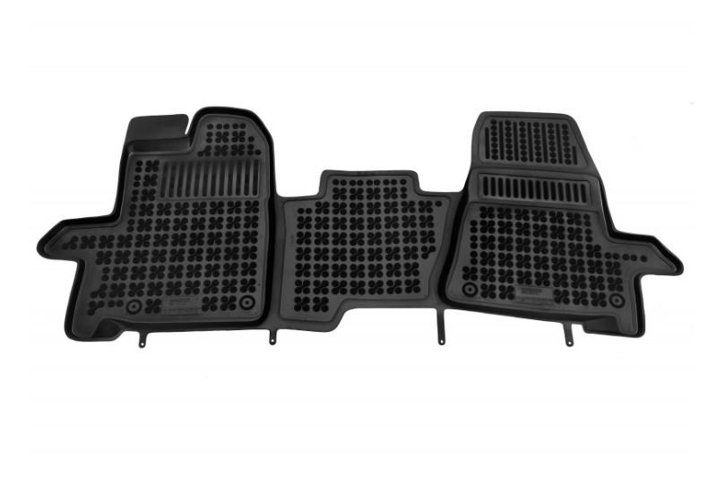 Covorase Presuri Auto Negru din Cauciuc compatibil cu FORD Transit Custom (2012-) Tourneo Custom (2013-2018) Transit VIII (2013-)