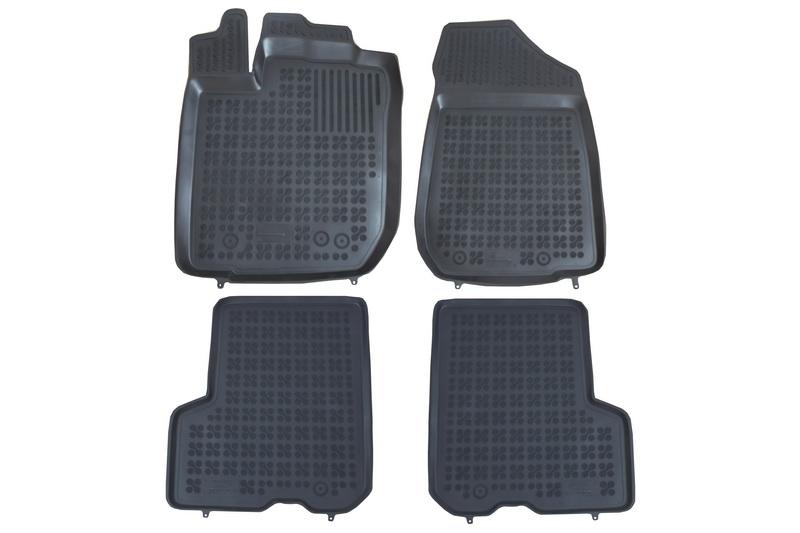 Covorase Presuri Auto Negru din Cauciuc compatibil cu DACIA Logan Sedan, MCV 2013-