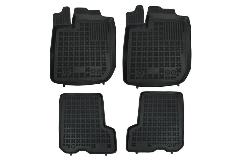 Covorase Presuri Auto Negru din Cauciuc compatibil cu DACIA Sandero II 2013 -