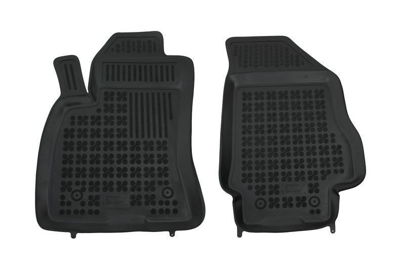 Covorase Presuri Auto Negru din Cauciuc FIAT Doblo II 2009-; compatibil cu OPEL Combo C 2011-