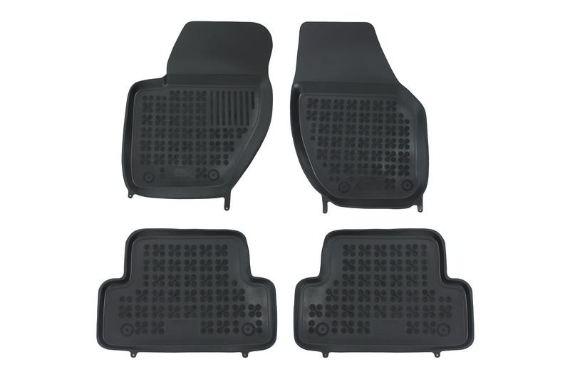 Covorase Presuri Auto Negru din Cauciuc compatibil cu VOLVO V40 2012-