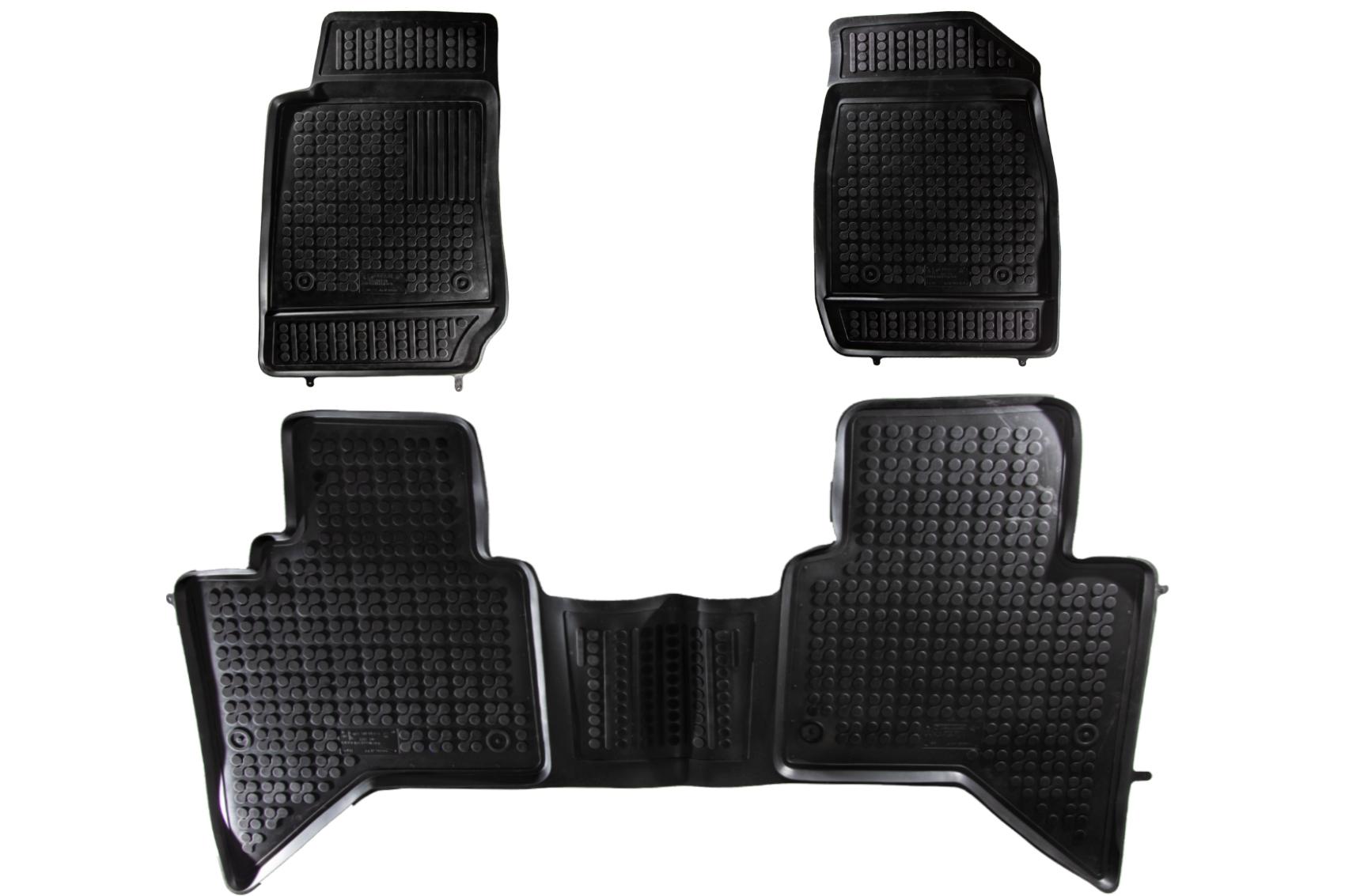 Covorase Presuri Auto din Cauciuc compatibil cu Isuzu D - MAX II (2011-up) Negru